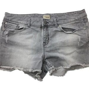 GAP Womens Gray Wash Cut Off Jean Shorts